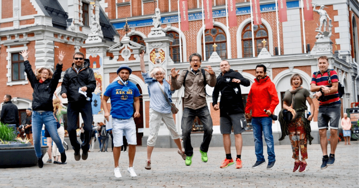 Town hall square during Walking tour in Riga