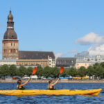 Riga day kayak tour, great kayaking experience with a tour guide